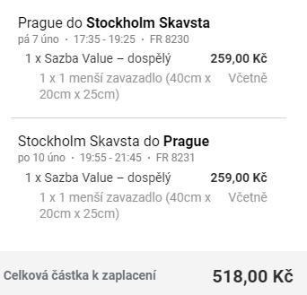 Stockholm z Prahy na prodloužený víkend