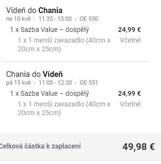 Kréta - Chania z Vídně