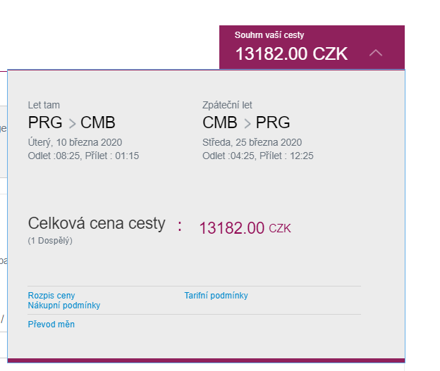 Z Prahy na Srí Lanku s luxusními Qatar Airways
