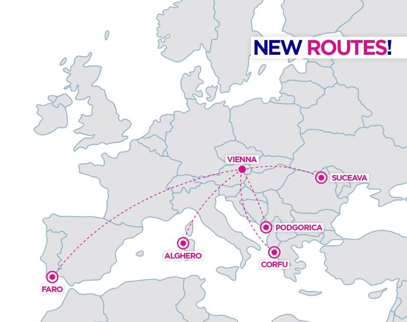 Wizz Air servíruje další nové linky z Vídně