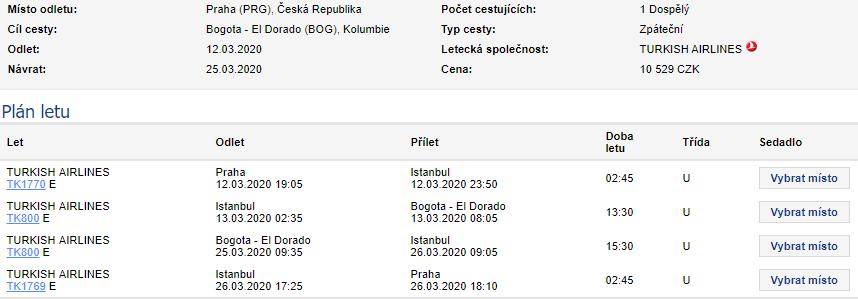 Parádní letenky z Prahy do Kolumbie