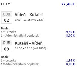 Gruzie - Kutaisi z Prahy a Vídně během jara