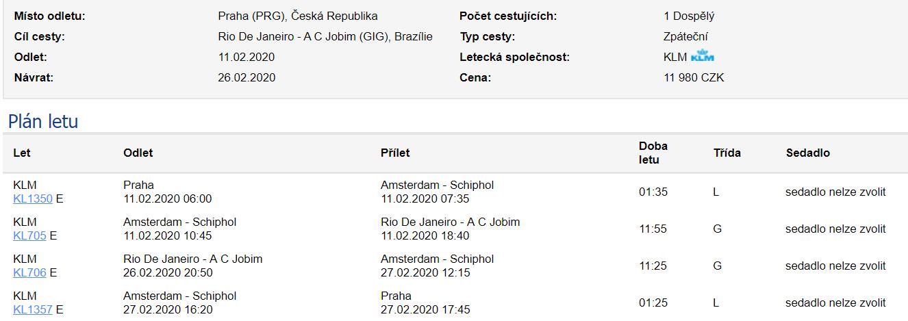 Brazílie - Rio de Janeiro z Prahy