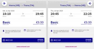 Z Vídně do albánské Tirany