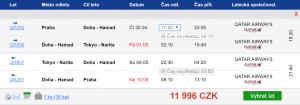 Z Prahy do japonského Tokia s Qatar Airways