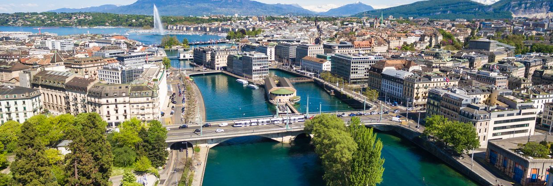 Švýcarsko: zářijová Ženeva z Prahy