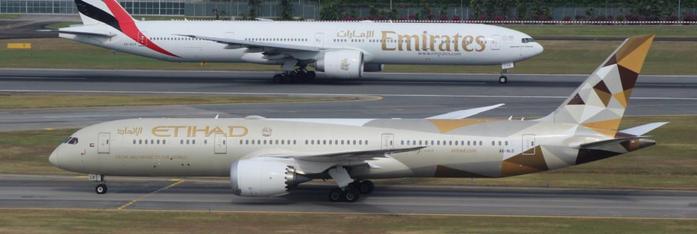 Emirates a Etihad obnovují některé lety