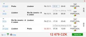 2v1: Z Prahy do Ria de Janeira se stopem v Lisabonu