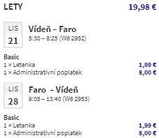Portugalsko: Faro z Vídně