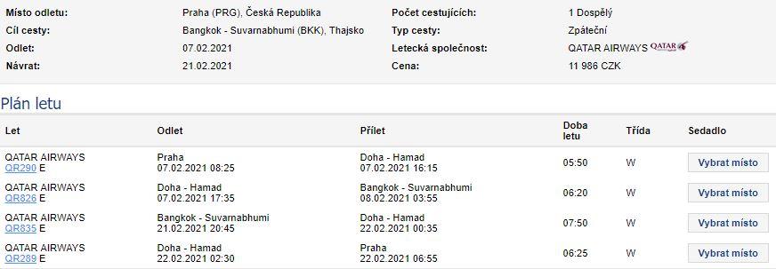 Do Thajska z Prahy s Qatar Airways (+letenkový tip na Bali)