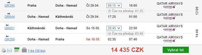 Na treky do Nepálu z Prahy s Qatar Airways