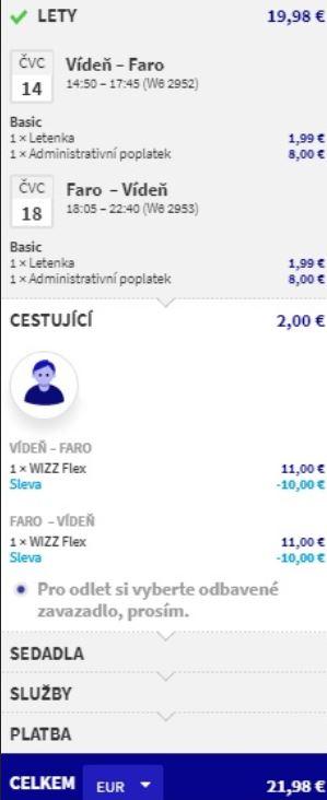 Wizz Flex za 1 € aneb flexibilní letenky po celé Evropě