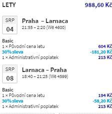 Nová linka z Prahy na Kypr: do Larnacy