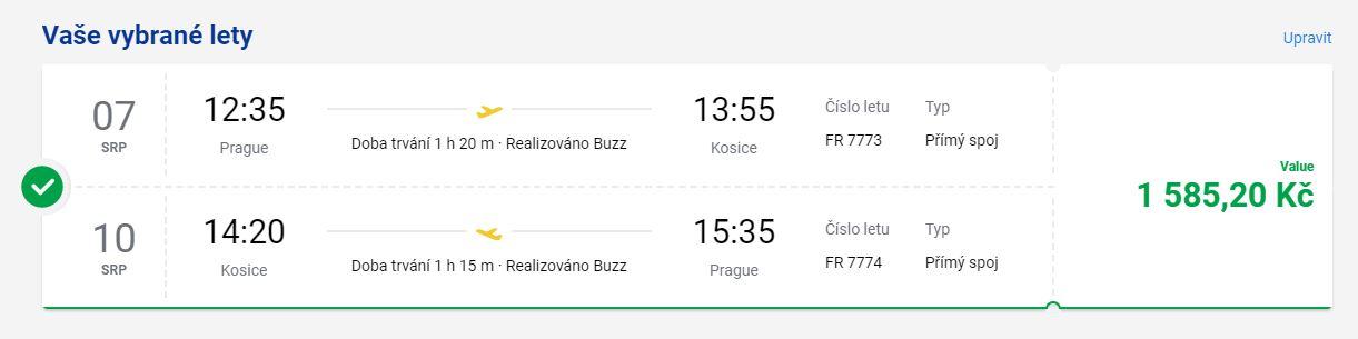 Nová linka Ryanairu z Prahy do Košic