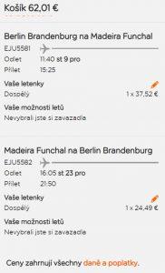 Madeira přímým letem z Berlína