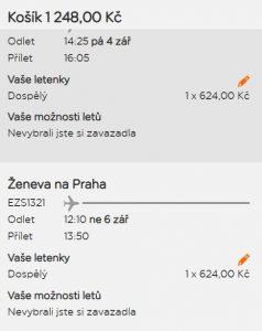 Švýcarsko i na víkendy v druhé polovině léta z Prahy