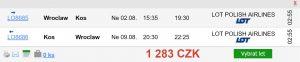 Výprodej letních destinací aerolinky LOT