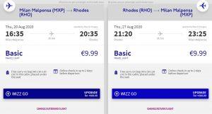 2v1: Milán & Rhodos z Prahy o letních prázdninách
