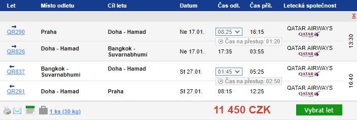 Do Thajska v hlavní sezóně s Qatar Airways