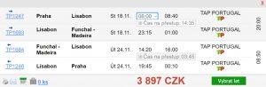 2v1: Madeira se zastávkou v Lisabonu z Prahy