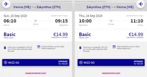 Z Vídně na řecký ostrov Zakynthos v září a říjnu