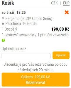 Do italských Alp z Prahy v závěru léta