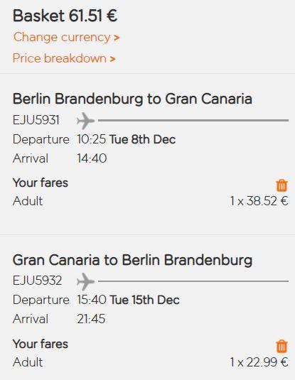 Kanárský ostrov Gran Canaria z Berlína