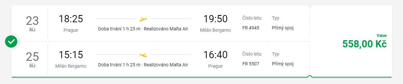 Na víkendovou otočku z Prahy do Bergama