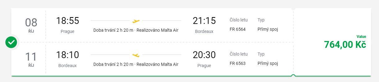 Na prodloužený víkend z Prahy do Bordeaux