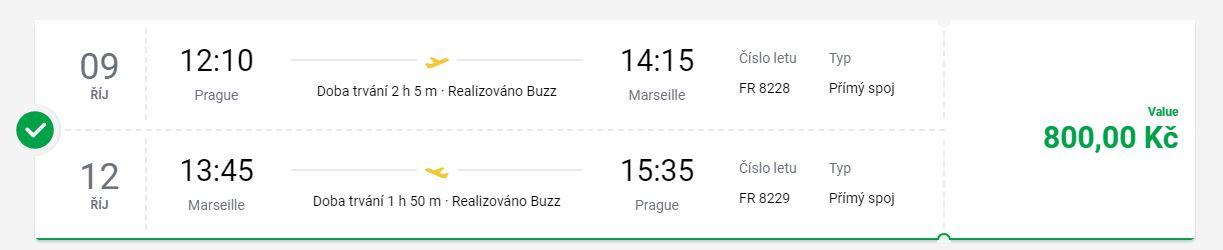 Na prodloužený víkend z Prahy do Marseille