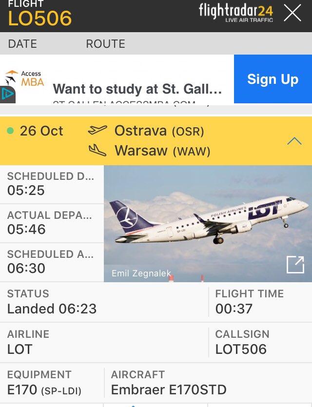LOT zahájil provoz na nové lince z Ostravy do Varšavy