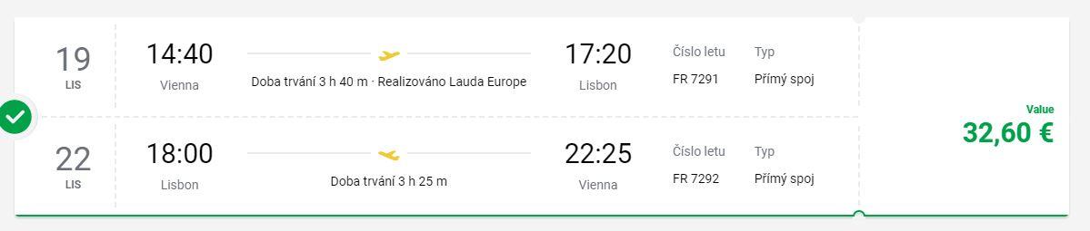 Do Lisabonu nejen na prodloužené víkendy (z Vídně)