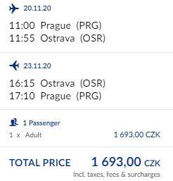 Nová linka z Prahy do Ostravy provozovaná LOTem