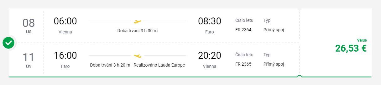 Faro: z Vídně na jih Portugalska v následujícím týdnu