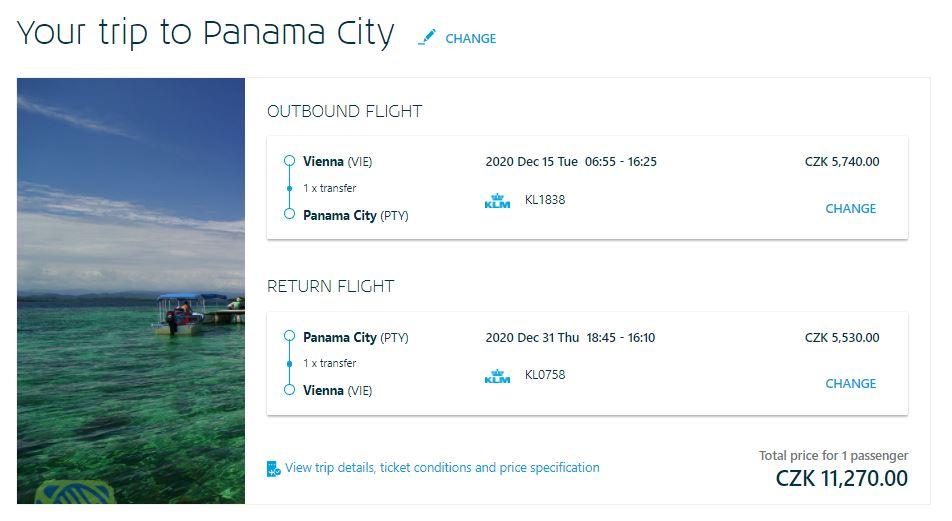 Panama z Vídně (i Prahy) nejen přes Vánoce