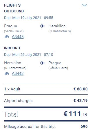 Prázdninová Kréta z Prahy přímým letem