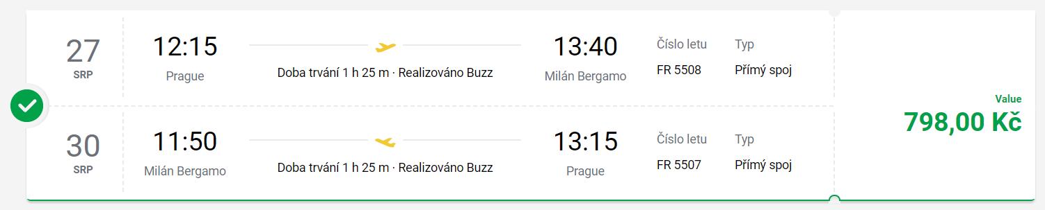 Miláno o letních prázdninách