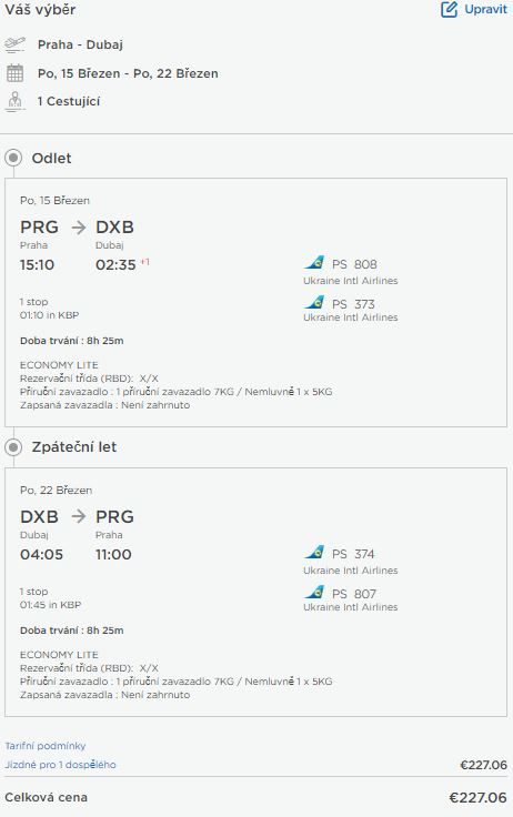 Z Prahy do Dubaje nejen na Velikonoce