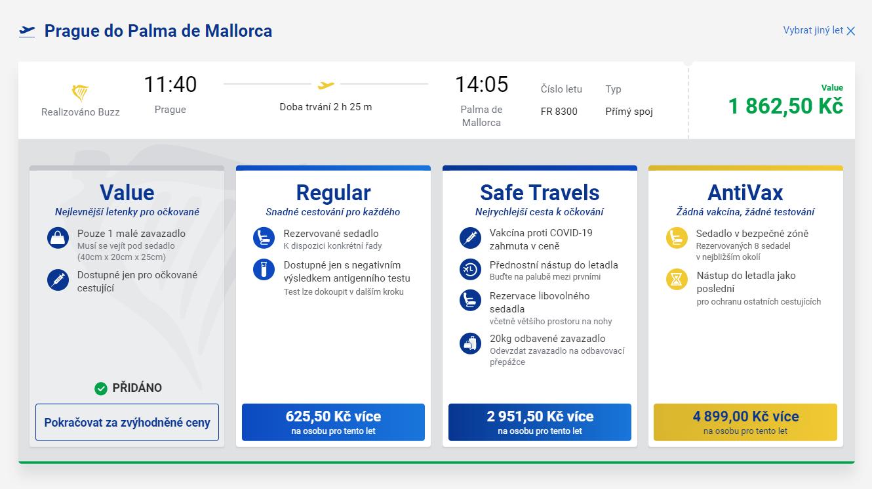 Nejrychlejší cesta k očkování aneb nové tarify Ryanairu