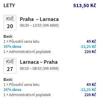 Levné letenky z Prahy na Kypr do Larnaky