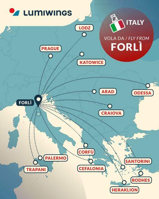 Start nové linky z Prahy do Forli se odkládá