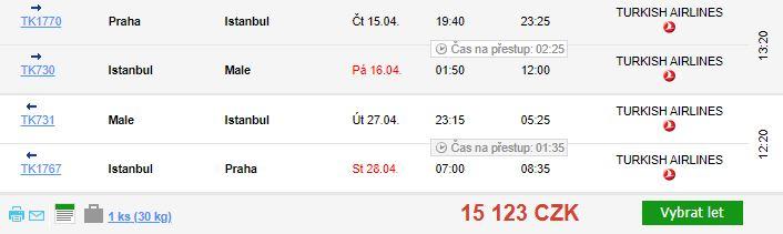 Letenky na Maledivy z Prahy s luxusními Qatar Airways