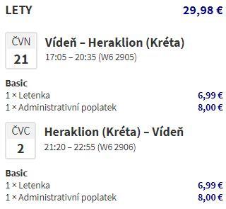 Červnová Kréta – Heraklion z Vídně