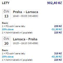 Kypr z Prahy v červnu a červenci