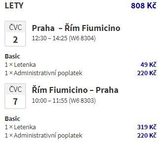 Nová linka Wizz Airu z Prahy do Říma