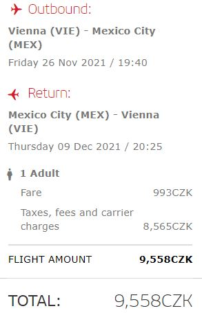 Mexiko: levné letenky z Vídně do Mexico City