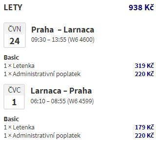 Prosluněný letní Kypr: z Prahy do Larnaky