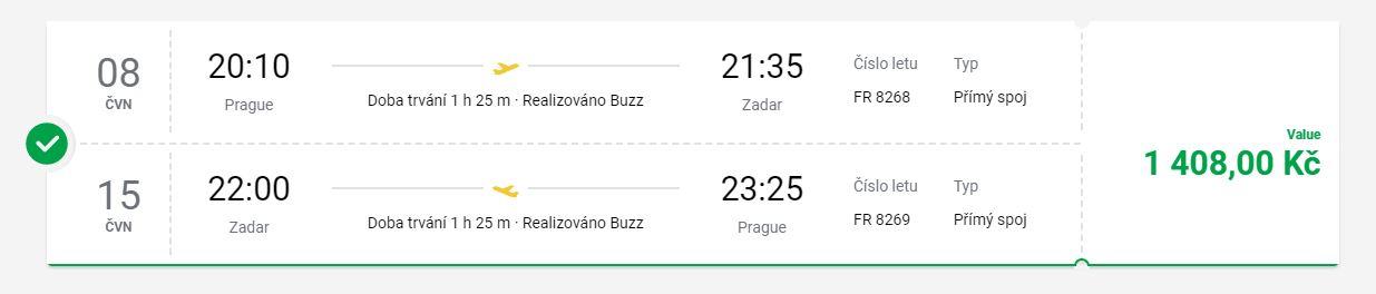 Chorvatsko: v létě z Prahy do Zadaru