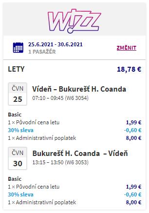 Krásné Rumunsko: Nejlevnější letenky do Bukurešti z Vídně