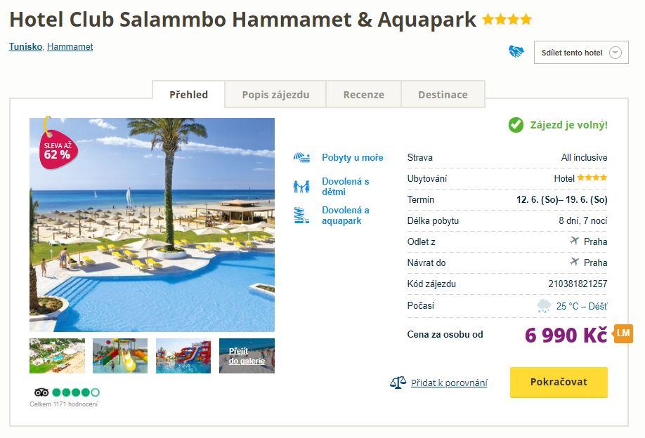 Červnové zájezdy do Tuniska – 4* hotel s all-inclusive